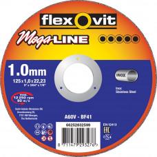 DOORSLIJPSCHIJF VLAK MEGA-LINE INOX A60V 125X1X22,23 T41