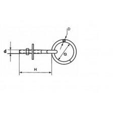 AANLEGRING M6X75 M. MOER RVS AISI 316 / 595-675I