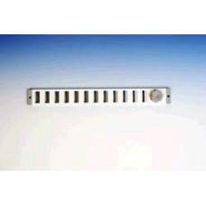 SCHUIFROOSTER, ALUMINIUM OPBOUWMAAT 370X40 MM - WIT, RAL 9010